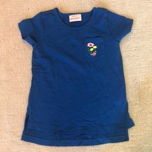 Hanna Andersson Blue Flower Tee 3T